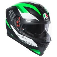 Helmet Agv K-5 K5 S Marble matt black white green XS casque integral moto helm