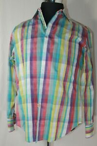 REDUCED!!! ROBERT GRAHAM Mens EMBROIDERED STRIPED Shirt Size Med