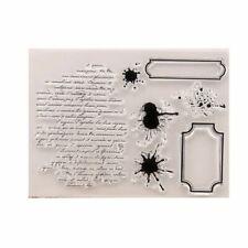 Transparent Clear Label Words Background Stamp Set Card Making/scrapbooking