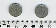 Singapore 1969 - 5 Cents Copper-Nickel Coin - Anhinga or Snake Bird