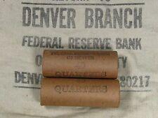 One Unsearched - Washington Silver Quarter Roll 40 Quarters - 1932 1964 P D S