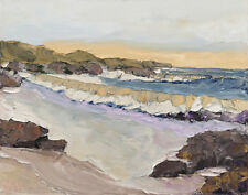 COAST WASH Original Seascape Expression Painting 16x20 022518 KENNETH JOHN KEN