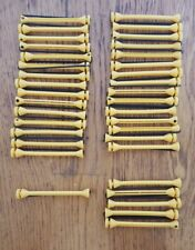 Vintage Perm Rod Curlers Yellow Lot of 26