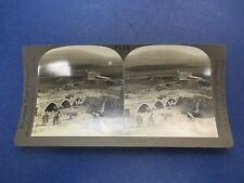 Antique Stereoview Card, Village of Nain and Mt. Tabor, Keystone View Company