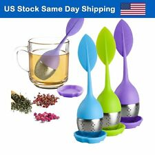 Silicone Loose Leaf Tea Infuser Stainless Steel Herbal Spice Filter Diffuser