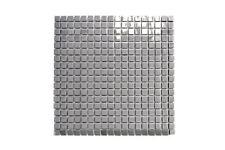 Mosaik Fliese Edelstahl silber Stahl glänzend Wand Küche   129-15G_f   10Matten