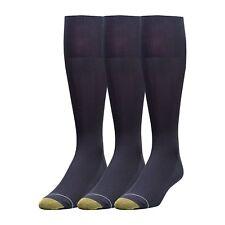 Gold Toe Men's Metropolitan Over-the-Calf Dress Socks, 3 Colors, 3 Pairs