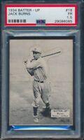 1934 BATTER UP JACK BURNS CARD #18 NATIONAL CHICLE PSA 1.5 #29086085