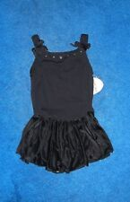 GIRLS BLACK & SILVER MORET DANCE SKATE LEOTARD OUTFIT SIZE 12 - 14 LARGE NWT