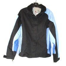 Alpine Design Womens Nylon Jacket Sz Large Blue Black Zip Long Sleeve EE506