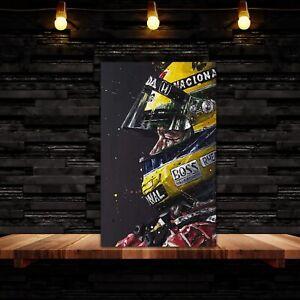 Ayrton Senna  F1 Canvas Wall Art Picture Print