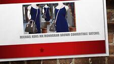 MICHAEL KORS MK Monogram Brown PVC Leather Convertible Satchel Handbag
