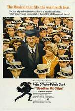 GOODBYE MR. CHIPS Movie POSTER 27x40 Peter O'Toole Petula Clark Michael Redgrave
