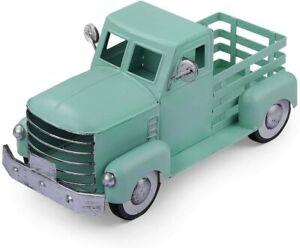 Truck Decor, Vintage Metal Truck Planter, Farmhouse Turquoise NEW