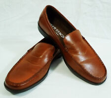 Deer Stags w/ Memory Foam Norman Brown Leather Casual Loafers Shoes size 8M
