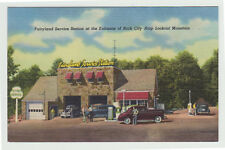 Linen Fairyland Gas Station, Lookout Mt GA c. 1950 Pettway Oil Ad Card
