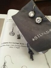 "Silpada ""Cinema Star Earrings""  Cubic Zirconia W2393 (SOLD OUT) NIB."