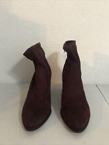 nine west Fabric Boot Wine Color Size 10M Retails $79 (T-Shoe-8)