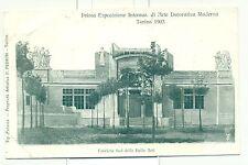 TORINO 1902 - ESPOSIZIONE INT.LE D'ARTE MODERNA Facciata Sud Belle Arti PEDRINI