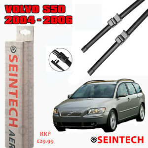VOLVO  S50 V50 2004-2006 SPECIFIC FIT FRONT AND REAR WIPER BLADES + PLASTIC ARM
