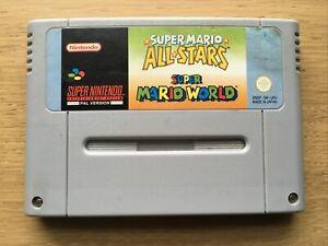 Super Mario Allstars + World Super Nintendo Snes Game Cart Only PAL UK EUR