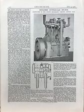Enclosed Suction Gas Engine: Made In Bath: 1908 Engineering Magazine Print