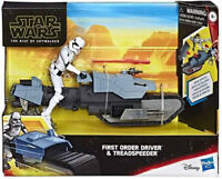 Star Wars Galaxy of Adventures First Order Driver and Treadspeeder Brand new