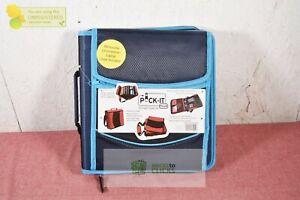 """Pock-It Plus Ultimate Organizer 4"""" Zipper Binder Blue W/ Chromebook Case"""