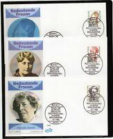 Alemania / Germany / 3 Sobres Primer Día - FDC año 1988