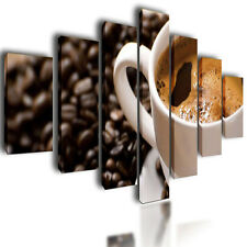 """HUGE EXTRA LARGE CANVAS PICTURES WALL ART CAFFE SPLIT MULTI PANEL IMAGE 80"""""""