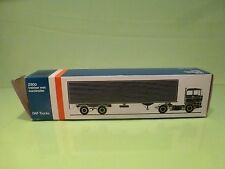 LION CAR 59 DAF TRUCKS 2800 EUROTRAILER - 1:50 GOOD * ONLY EMPTY BOX * (31)