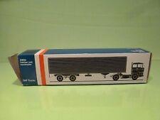 LION CAR 59 DAF TRUCKS 2800 EUROTRAILER - 1:50 GOOD * ONLY EMPTY BOX * (31)
