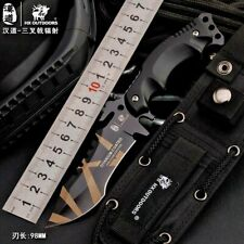 """Clip Point Knife Serrated Fixed Blade Hunting Tactical Survival Jungle Combat 4"""""""