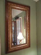 "Lovely large vintage beveled edge mirror, nice ornate piece 52.5"" x31"""
