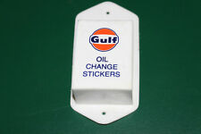 vintage Gulf Oil Change stickers holder sign White Rose