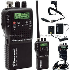 Midland 75-822 Portable Handheld CB Radio Home Adapter AC DC NOAA Hazard Weather