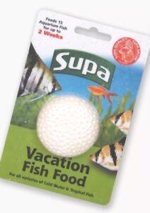 SUPA VACATION 2 WEEK FEED, HOLIDAY FOOD AQUARIUM FEEDING BLOCK NEW