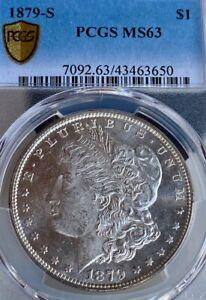 1879-S MS63 Bright Mint State San Francisco Mint PCGS Morgan Silver Dollar