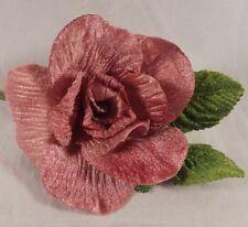 Velvet Rose Mauve Millinery Flower Crowns Corsage Wedding Crafts Petal Garland