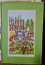 """Susan Pear Meisel, """"Purple Shutter"""" (1970) Signed & Numbered Lithograph Framed"""