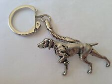 Pewter on a snake keyring Handmade A30 Pointer made of fine English