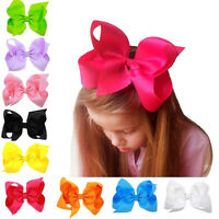 SWEET BIG BOWS BOUTIQUE HAIR CLIP PIN ALLIGATOR CLIPS GROSGRAIN RIBBON BOW GIRL