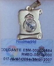 Escudo Oficial de Futbol. REAL MADRID. Colgante de ORO DE 18 Ktes-