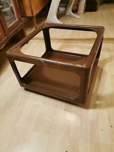 Variopur Couchtisch Tisch 70er Polyurethan zum Herrichten Glassplatte muss neu