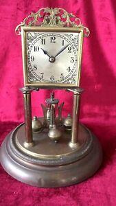 Rare 400 Day, Torsion, Anniversary Clock With Square Dial
