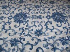 RALPH LAUREN PORCELAINE ROSETTE BLUE STANDARD PILLOWCASES (2) NUC