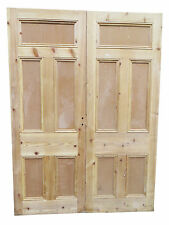 DD035 - TRADITIONAL PINE VICTORIAN DOUBLE DOORS - FULLY STRIPPED BUT UNRESTORED
