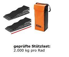 Stufenkeil 2er Set + Tasche Auffahrkeil Rampen Wohnwagen Wohnmobil FROLi 93332