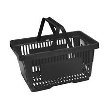 More details for black plastic shopping basket x 5