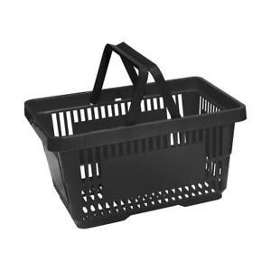Black Plastic Shopping Basket x 5